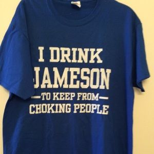 Jameson Blue Graphic Tee L New
